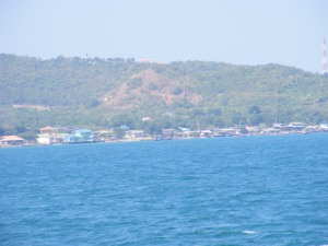 Deep blue waters enroute Coral Island Pattaya