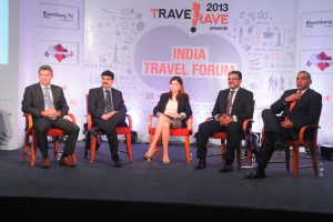 media round table - stuart crighton - cleartrip, rajeev wagle - kuoni india, neeta lachmandas, assistant chief executive of the singapore tourism board, mr mohit gupta - makemytrip and madhavan menon