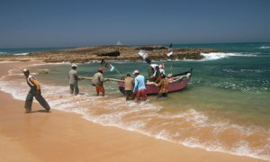 Net practice: fishermen on Oualidia's 11km-long sheltered lagoon