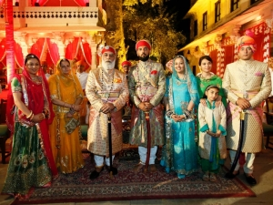 Pic 2 Shriji Arvind Singh Mewar along with Prince Lakshyaraj along with the family members