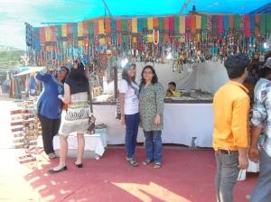 Tanyaa and Sonia at Delhi Haat.