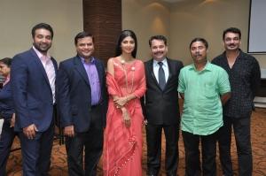 Goa Tourism - At Goa Wedding Show PC - (l-r) Raj Kundra, Nikhil Desai, Shilpa Shetty, Nilesh Cabral, Dilip Parulekar, Wendell Rodricks