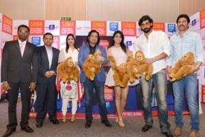 L-R Mr. Tony Nagamaiah, General Manager OF Malaysia major events, Manoharan Periasamy - Director, Tourism Malaysia India, Brinda Prasad, Chairperson, SIIMA, Shubhodip Pal -Chief Marketing, Shriya Saran, Rana Daggubati, Tirumal Reddy, Director Marketing of SIIMA