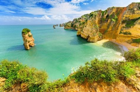 2 idyllic_beach_landscape_at_lagos_algarve_portugal_shutterstock_172674725