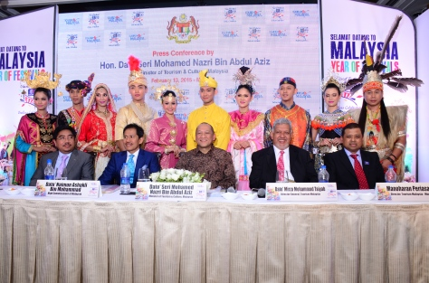 Malaysia's Honorable Minister of Tourism and Culture, Dato Seri Mohamed Nazri Aziz  during Tourism Malaysia PC in Mumbai