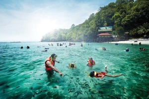 One of the many marine parks in Malaysia