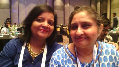 Happy with a blogger friend Sunita Rajwade.