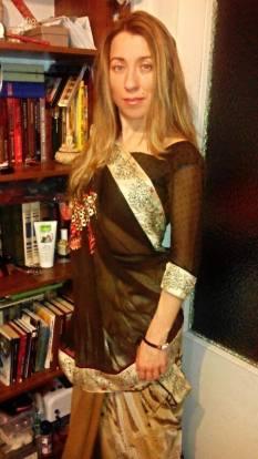 The #Gujarati_Style_Drape by Kseniia Iarovchyk