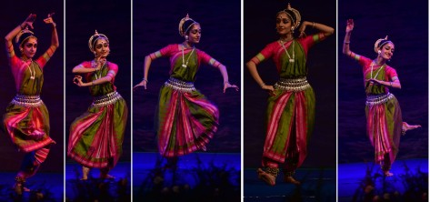 THIRUVANANATHAPURAM, JAN 23 (UNI):- Odissi dancer Arushi Mudgal performing at the ongoing Nishagandhi Dance and Music Festival, in Thiruvananathapuram on Thursday night. UNI PHOTO-4U