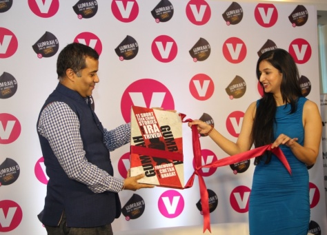 Channel V launches GUMRAH the book unveiled by best-selling author Ira Trivedi and Chetan Bhagat (foreword written by him) (18)
