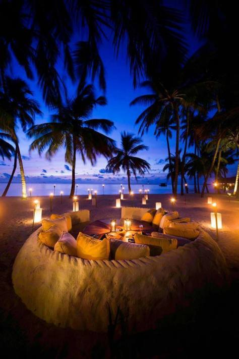 A wonderful evening in Maldives