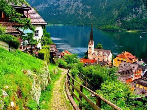 village of Hallstatt - Austria