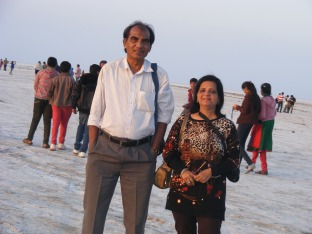 Me & Mukund during sunset at Rann