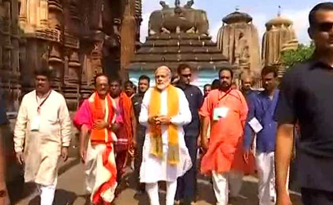 PM's visit to Lingaraja Temple in Bhubaneswar, Odisha