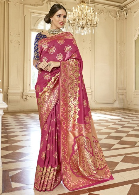 eb177f5efc The saree in zari brocade and in bright colours is a brilliant collection  to choose from. You can order these online and get your Sarees delivered at  your ...