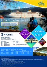 Costa Cruise Cochin to Maldives flyer