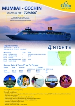 Costa Cruise Mumbai to Cochin flyer