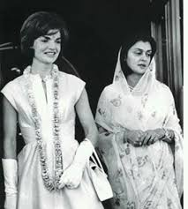 Maharani Gayatri with Jacklene Kennedy
