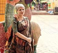Laila Tyebji, doing great work on handloom sarees