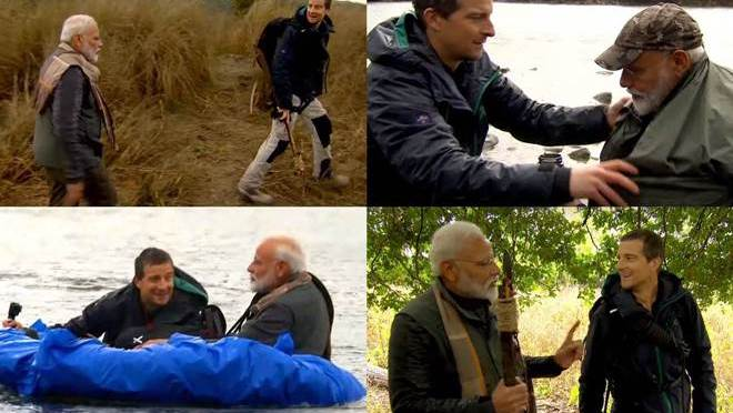 PM Modi features in Man Vs Wild on Discovery Channel, one of its kind adventure travails!