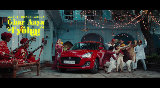"Maruti Suzuki's ""Ghar Aaya Tyohar"" depicting national integration"