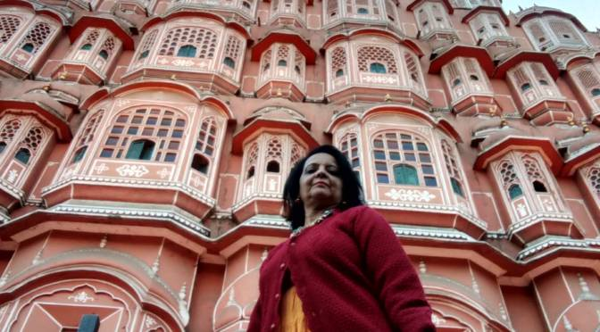 Pink Hawa Mahal of Pink City in Pink winter…